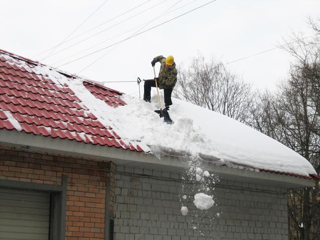 Смета на чистку от снега с крыш