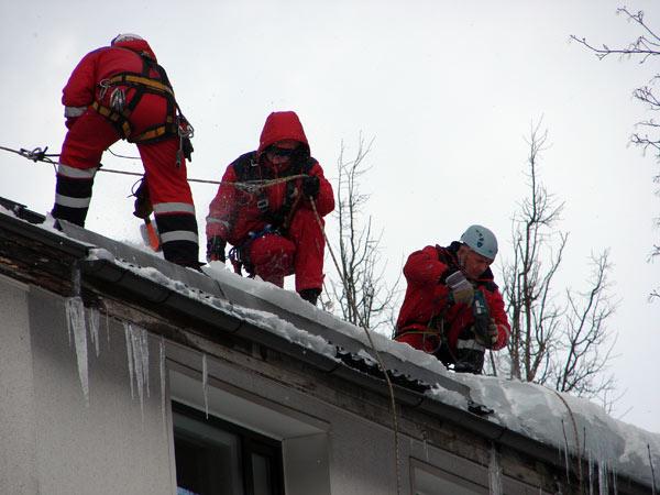 Типовая инструкция по охране труда при очистке крыши от снега